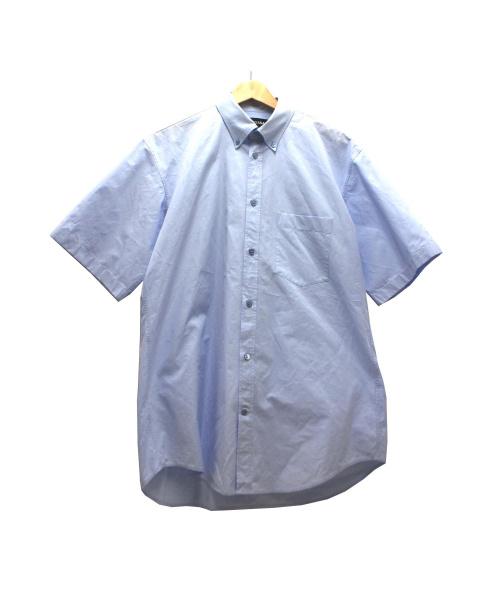 BALENCIAGA(バレンシアガ)BALENCIAGA (バレンシアガ) バックロゴBIGシャツ ブルー サイズ:37の古着・服飾アイテム