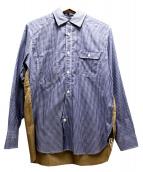 JUNYA WATANABE COMME des GARCONS MAN(ジュンヤワタナベ コムデギャルソン マン)の古着「チェックシャツ」|ブルー×カーキ