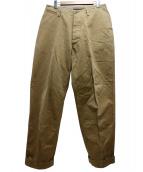 NIGEL CABOURN(ナイジェルケーボン)の古着「ベーシックミリタリーチノパンツ」 ブラウン