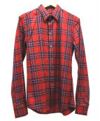 GIVENCHY(ジバンシー)の古着「チェックシャツ」 レッド×ネイビー