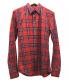 GIVENCHY(ジバンシィ)の古着「チェックシャツ」|レッド×ネイビー