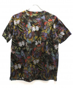 VALENTINO(バレンチノ)の古着「総柄Tシャツ」|カーキ