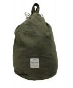 NIGEL CABOURN(ナイジェルケーボン)の古着「ヴィンテージツイルランドリーバッグ」|オリーブ