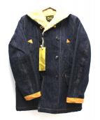 GOLD(ゴールド)の古着「裏ボアデニムジャケット」 インディゴ