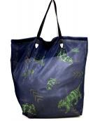 TOGA VIRILIS(トーガ ヴィリリース)の古着「Print mesh bag」|ネイビー