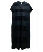 noir kei ninomiya(ノワール ケイ ニノミヤ)の古着「シースルーカットソーワンピース」|ブラック