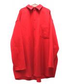 MM6(マルタンマルジェラ)の古着「ビッグシルエットシャツ」|レッド