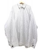 DRESSEDUNDRESSED(ドレスドアンドレスド)の古着「ドッキングシャツ」|ホワイト