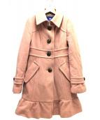 BURBERRY BLUE LABEL(バーバリーブルーレーベル)の古着「ウールコート」|ピンク