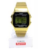 Supreme×TIMEX(シュプリーム×タイメックス)の古着「Digital Watch GOLD」