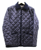 LAVENHAM(ラベンハム)の古着「キルティングジャケット」|ネイビー