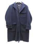 Engineered Garments×FREAKS STORE(エンジニアードガーメンツ×フリークスストア)の古着「チェスターフィールドコート」|ネイビー