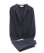 UNTITLED(アンタイトル)の古着「【洗える】ミントソリビアスカートスーツ」|ネイビー
