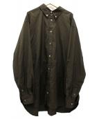 WILLY CHAVARRIA(ウィリーチャバリア)の古着「ビッグシルエットシャツ」|オリーブ