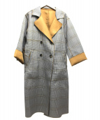 Eimee Law(エイミーロウ)の古着「リバーシブルメロウ仕立てトレンチコート」|グレー×ベージュ
