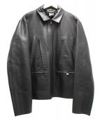 GUCCI(グッチ)の古着「レザージャケット」|ブラック