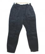 ゴーシュ(ゴーシュ)の古着「カツラギ裾ゴムテーパードパンツ」|ブラック