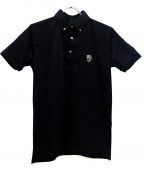 Dartin Bonaparto(ダルタン ボナパルト)の古着「ポロシャツ」 ブラック