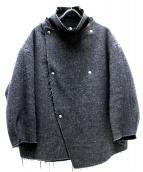 ZUCCA(ズッカ)の古着「リバーウールジャケット」|グレー