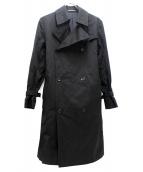 yohji yamamoto+noir(ヨウジヤマモトプリュスノアール)の古着「トレンチコート」|ブラック