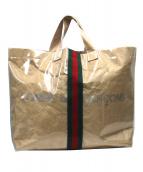 COMME des GARCONS×GUCCI(コムデギャルソン×グッチ)の古着「ホリデーコレクションシェリーライントートバッグ」|ベージュ