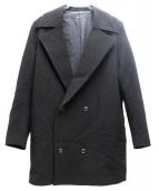 DRESSEDUNDRESSED(ドレスドアンドレスド)の古着「メルトンダブルコート」|ブラック