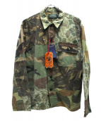 POLO COUNTRY(ポロカントリ)の古着「パッチワークシャツ」|カーキ