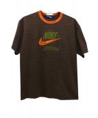 NIKE × COMME des GARCONS JUNYA WATANABE MAN(ナイキ × コムデギャルソンジュンヤワタナベマン)の古着「マルチボーダーTシャツ」|ブラウン