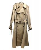 AURALEE(オーラリー)の古着「フィンクスポリエステルビッグトレンチコート」 ベージュ
