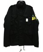 MIHARA YASUHIRO(ミハラヤスヒロ)の古着「M-65ナイロンジャケット」|ブラック