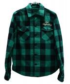 TMT(ティーエムティー)の古着「チェックシャツ」|グリーン