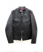 SCHOTT BROS.(ショットブロス)の古着「カウレザーシングルライダースジャケット」|ブラック