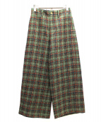 45R(フォーティファイブアール)の古着「キラキラタータンPANTS」|ベージュ