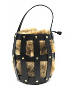 VIOLAdORO(ヴィオラドーロ)の古着「カゴバッグ」|ブラック