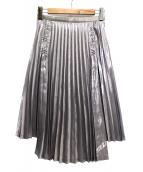 noir kei ninomiya(ノワール ケイ ニノミヤ)の古着「プリーツスカート」|シルバー