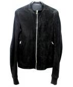 RICK OWENS(リックオウエンス)の古着「ラムレザージャケット」|ブラック
