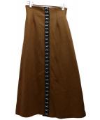 Ameri VINTAGE(アメリビンテージ)の古着「メニークラスプスカート」|ブラウン