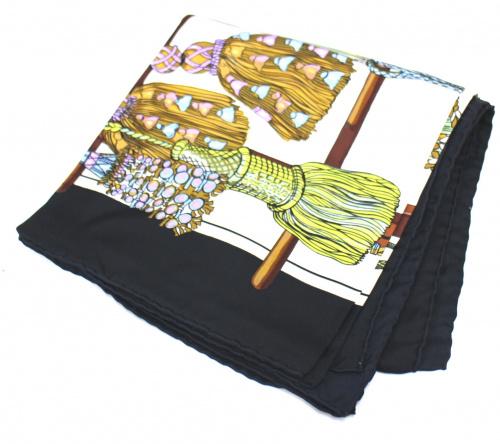 HERMES(エルメス)HERMES (エルメス) スカーフ ブラック pasementerieの古着・服飾アイテム