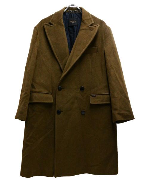 PALTO(パルト)PALTO (パルト) ダブルコート ブラウン サイズ:50 カシミヤ混の古着・服飾アイテム