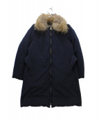 ROSSO(ロッソ)の古着「リバーシブルダウンコート」|ネイビー