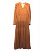 CELFORD(セルフォード)の古着「シフォンティアードワンピース」|ブラウン