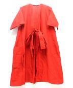 SOFIE DHOORE(ソフィードール)の古着「ガウンカーディガン」|レッド
