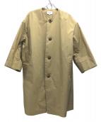 LE GLAZIK(ルグラジック)の古着「ノーカラーコート」|ベージュ
