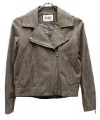 ROPE mademoiselle(ロペマドモアゼル)の古着「ゴートスウェードライダースジャケット」|ベージュ