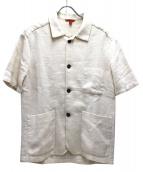 BARENA(バレナ)の古着「オープンカラーシャツジャケット」|ホワイト