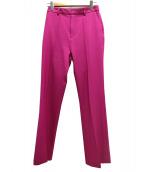 NINE(ナイン)の古着「センタープレスベルボトムパンツ」|ピンク