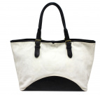 Felisi(フェリージ)の古着「スウェードトートバッグ」|ホワイト