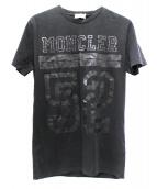 MONCLER(モンクレール)の古着「ロゴプリントTシャツ」|ブラック