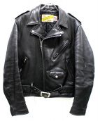 Schott(ショット)の古着「70sヴィンテージワンスターレザーライダースジャケット」|ブラック