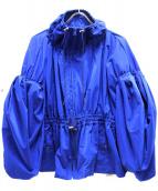 ENFOLD(エンフォルド)の古着「PE/Nyタフタギャザーボリュームブルゾン」|ブルー